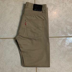 Levi's 511 Slim Fit Gray Jeans Men's (29 X 29)